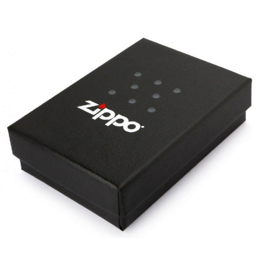 New Black Matte Zippo Lighter 218ZL with Logo