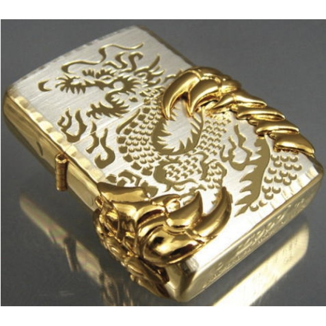 New Gold Japanese Dragon -08 Zippo Lighter