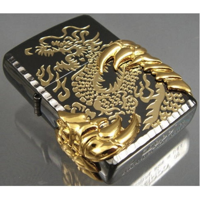 New Black Ice Japanese Dragon -08 Zippo Lighter