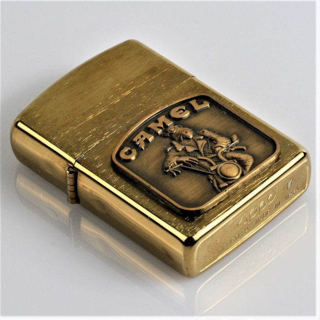 New Gold Camel Motor Zippo Lighter