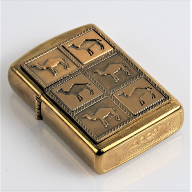 New Gold 6 Camel Logo Zippo Lighter