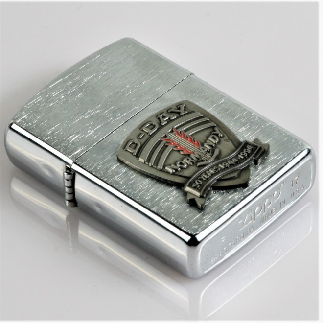 New Silver D-Day Normandy Zippo Lighter