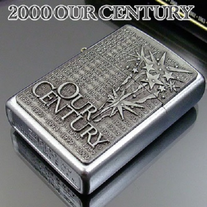 "New Silver ""Our Century"" Zippo Lighter"