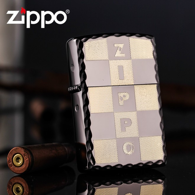 Black Ice Edging Charm Version ZBT-1-10b Zippo Lighter