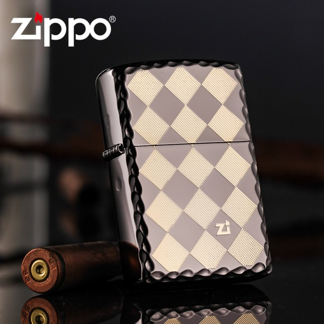Black Ice Edging Syle Version ZBT-1-13 Zippo Lighter