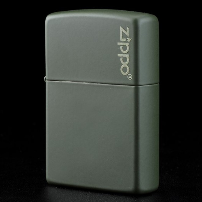 New Green Matte Zippo Lighter 221ZL with Logo