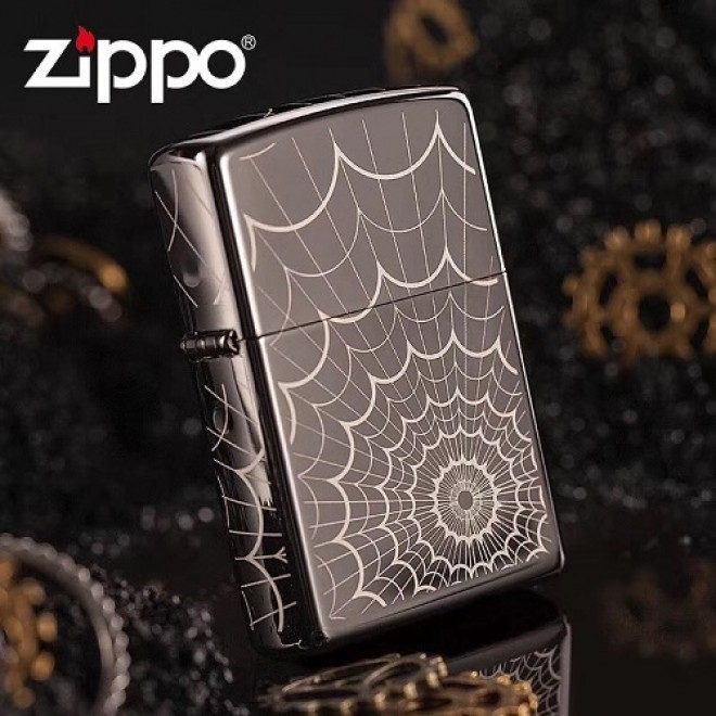 Black Ice Finish Web All Over Wind Resistant 28527 Zippo Lighter