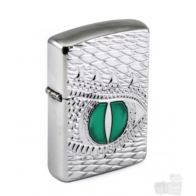 High Polish Chrome Armor Dragon Eye 28807 Zippo Lighter