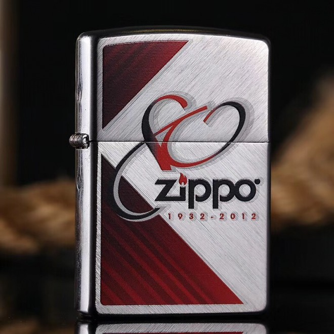 Brushed Chrome 80TH Anniversary 28192 Zippo Lighter