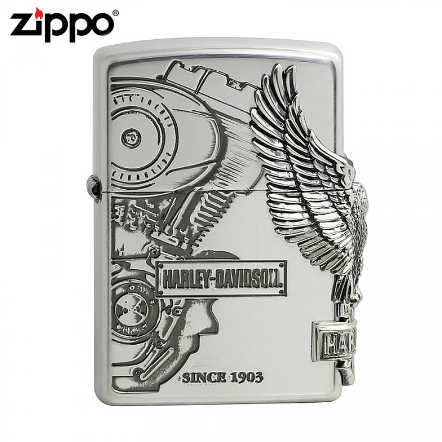 Harley Davidson HDP-03 Limited Edition Silver 3 Designed JP Zippo Lighter