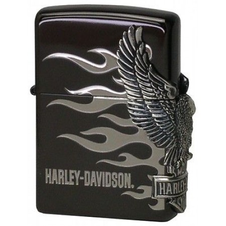 Black Silver Harley Davidson HDP-02 Limited Edition Zippo Lighter