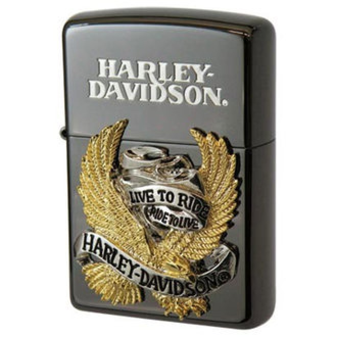 Harley Davidson Japan Ltd Edition Black Hdp-06 Zippo Lighter