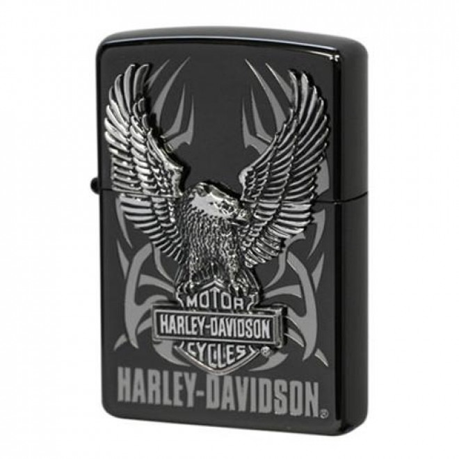 Harley Davidson HDP-05 Limited Edition Black Silver Big Metal Zippo Lighter