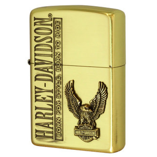 Harley-Davidson Gold Brass HDP-59 Japan Limited Edition 2016 Zippo Lighter