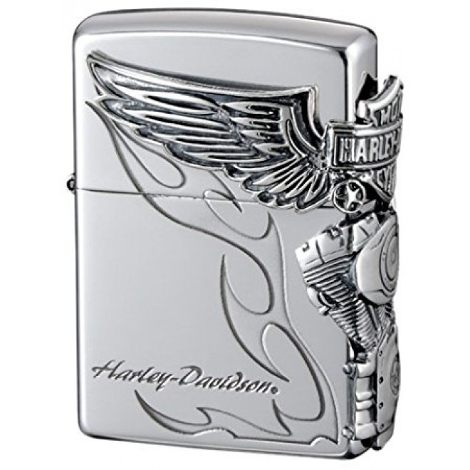 Harley Davidson Hdp-26 Limited Edition Silver Plated JP Zippo Lighter