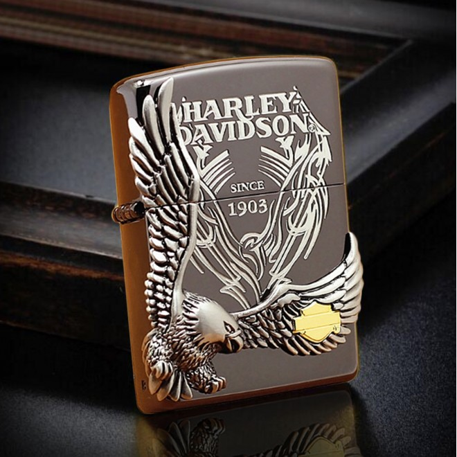 Harley Davidson Japan Limited Edition Black Hdp-18 Zippo Lighter