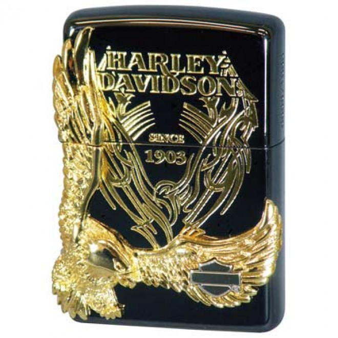 Harley Davidson Hdp-15 Limited Edition Black Gold Plated 03 JP Zippo Lighter