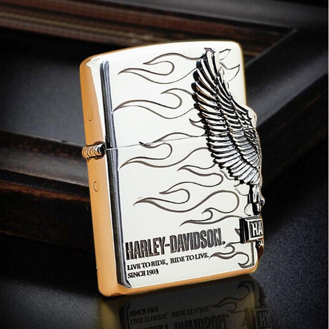Harley Davidson Hdp-04 Limited Edition Silver Zippo Lighter