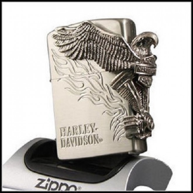 Silver Harley Davidson Great 3D Eagle Fire Zippo Lighter