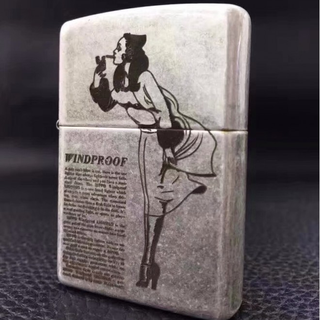 Ancient Tattoo Windpool Girl Zippo Lighter