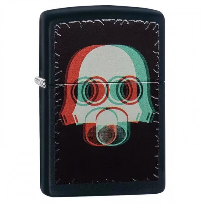 Gas Mask Black Matte 29417 Zippo Lighter