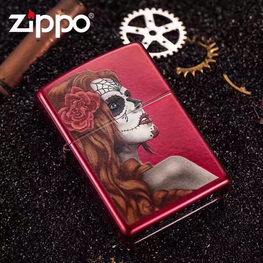 Day Of The Dead, Candy Apple Red 28830 Zippo Lighter