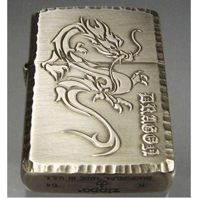 Gold Japanese Dragon -05 Zippo Lighter