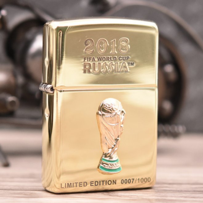 Gold 2018 World Cup Russia Limited Edition Zippo Lighter