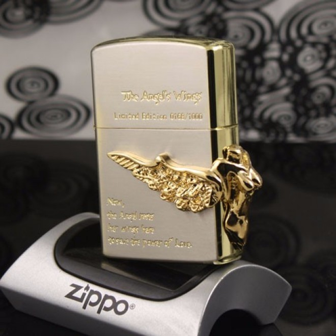 "Gold ""The Angel's Wing"" Zippo Lighter"