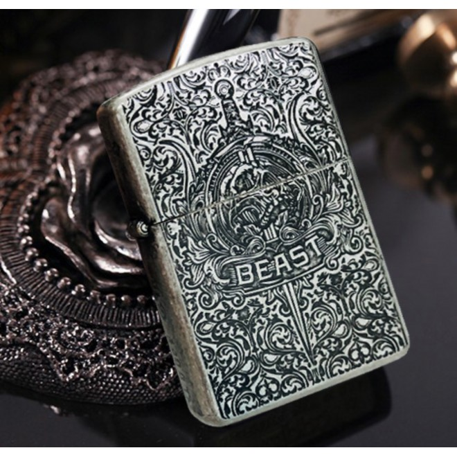 Armor Silver Codex Gigas Devil Bible Zippo Lighter