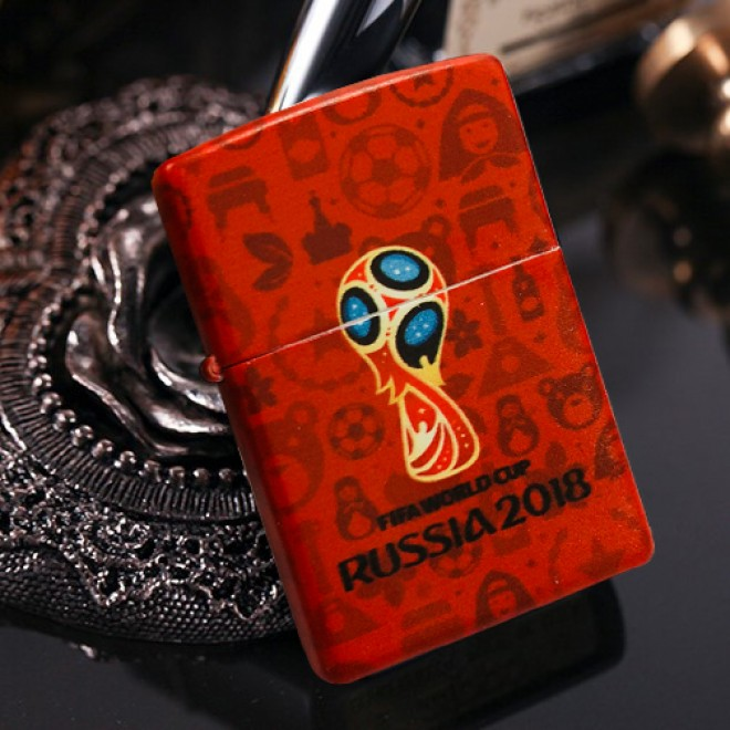 Red Matte 2018 World Cup Limited Edition Zippo Lighter