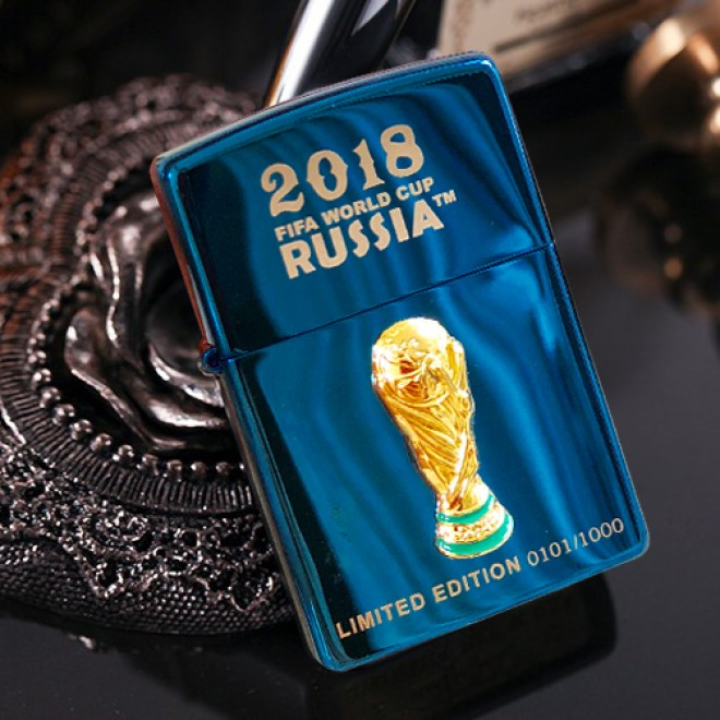 Blue Ice 2018 World Cup Russia Limited Edition Zippo Lighter