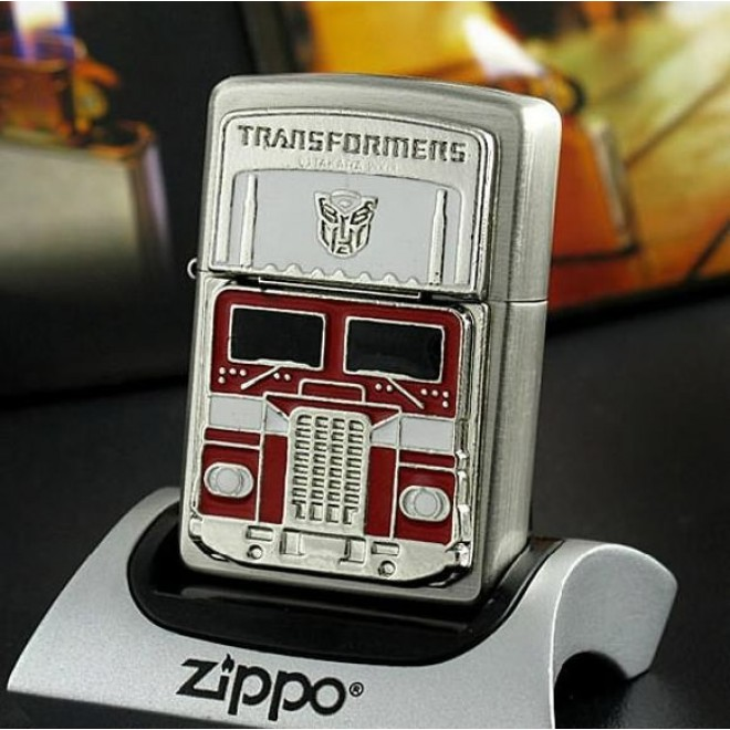 Silver Transformers Optimus Prime Limited Edition Zippo Lighter
