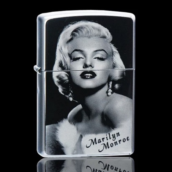 Black Ice Marilyn Monroe Zippo Lighter