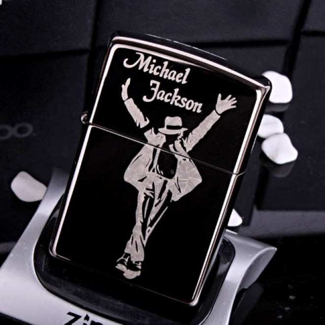 "Black Ice Michael Jackson ""Forever Pop King""  Zippo Lighter"