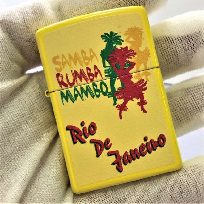 Yellow Neon SAMBA RUMBA MAMBO Zippo Lighter
