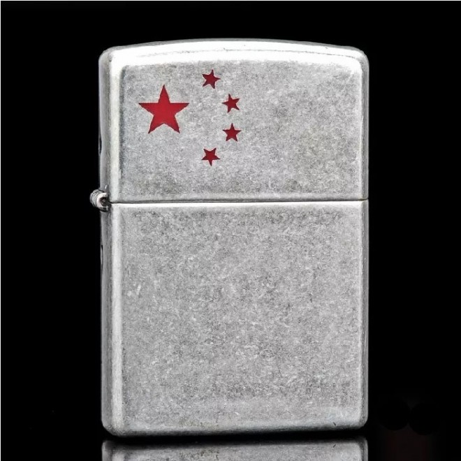 5 stars Army Silver Antique Zippo Lighter