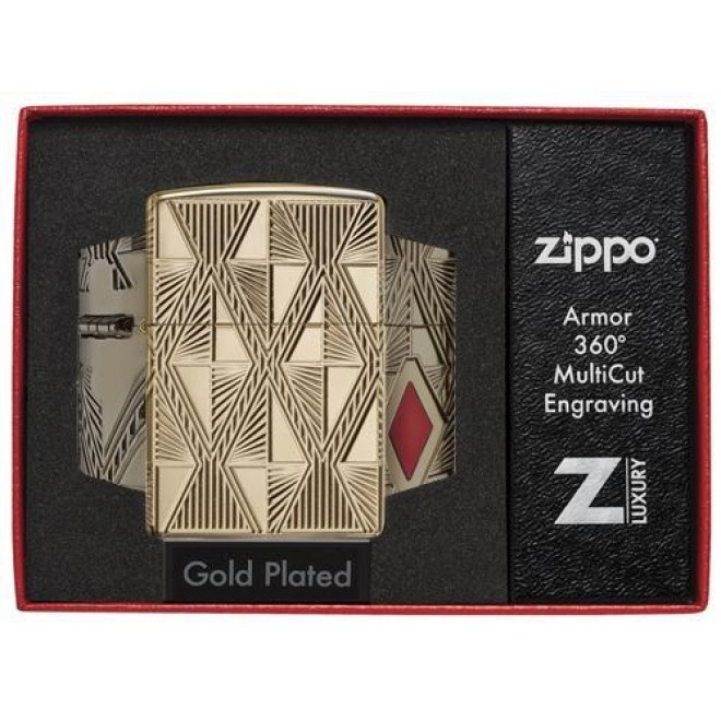 Luxury Diamond Design 360° MultiCut 29671 Zippo Lighter