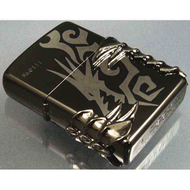 Black Ice Japanese Panzer Dragon  Zippo Lighter