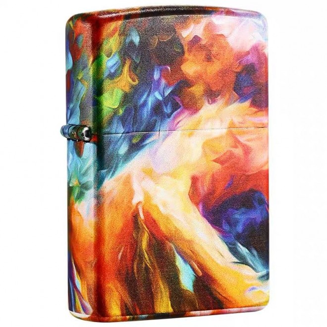 5 Sided Graphitti Artistic Painting Matte Zippo Lighter