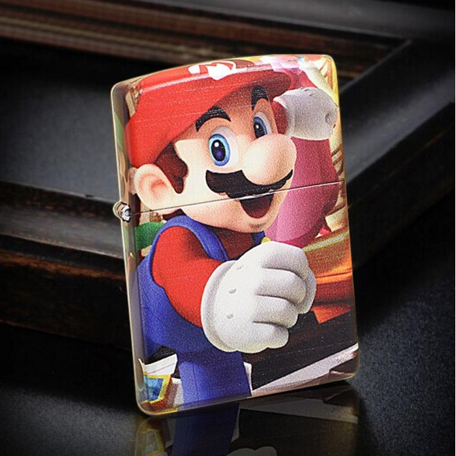 5 Sided Graphitti Super Mario Brothers Zippo Lighter
