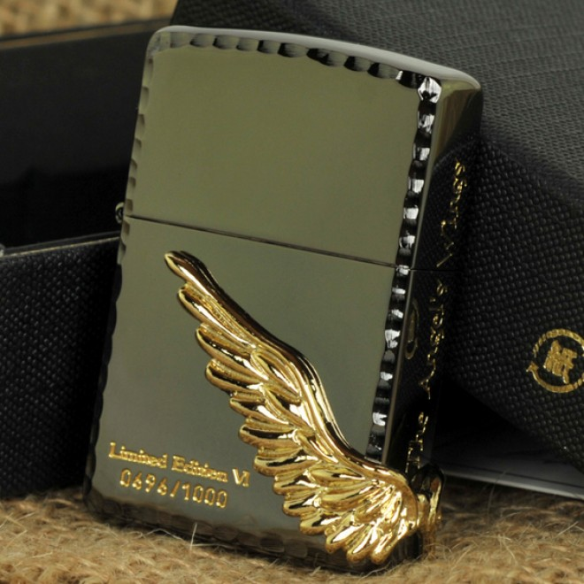 Black Ice Angel Wing Limited Edition Zippo Lighter