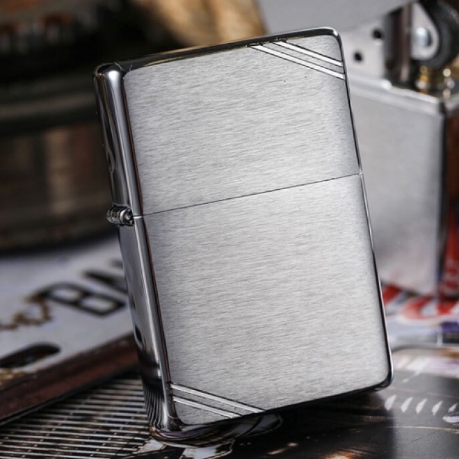 Silver Vintage Look 1937 230 with Slashes Zippo Lighter