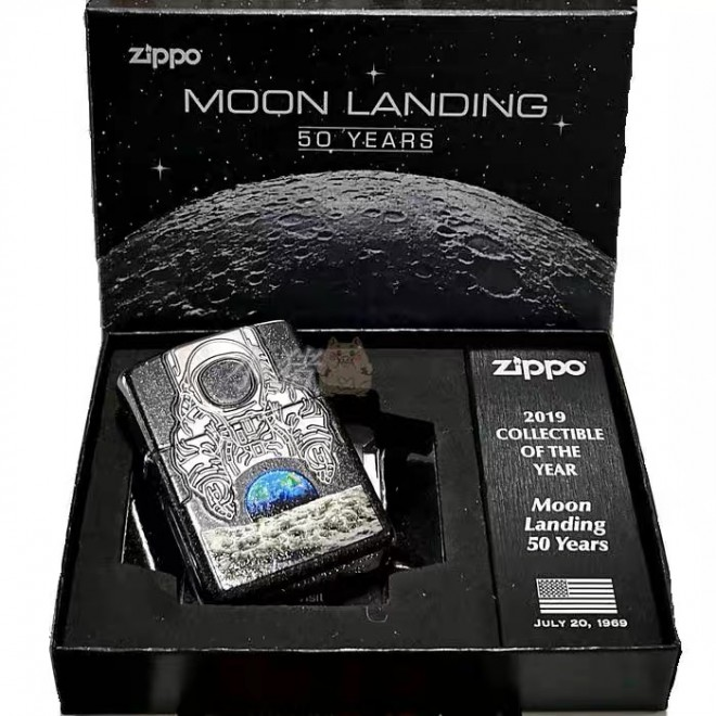 2019 Collectable of the Year 29862 Moon Landing Zippo Lighter
