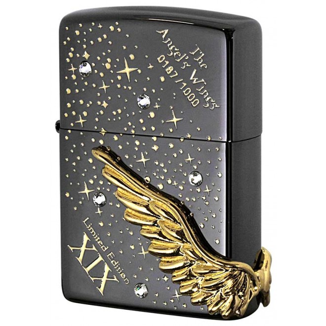 Black Ice Cystal Spark Limited Edition Angel Wing