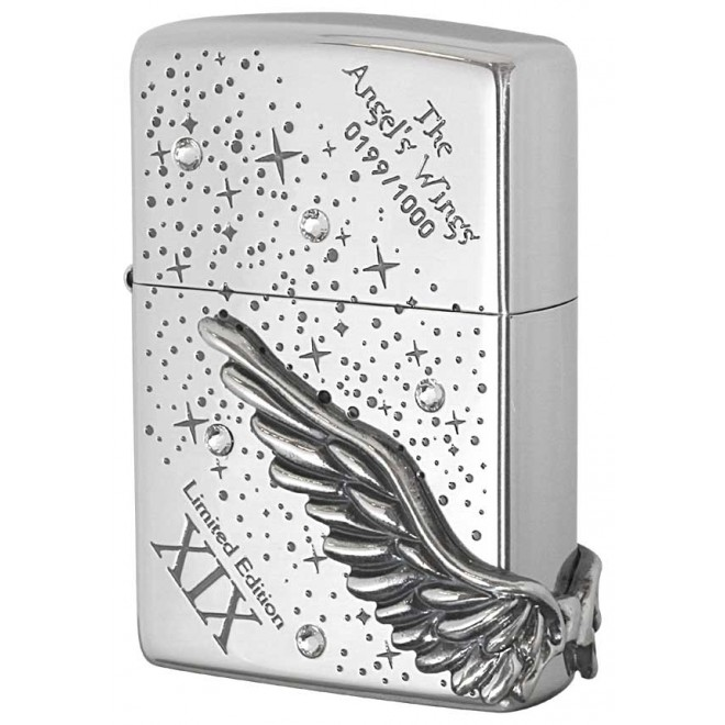 Silver Ice Cystal Spark Limited Edition Angel Wing