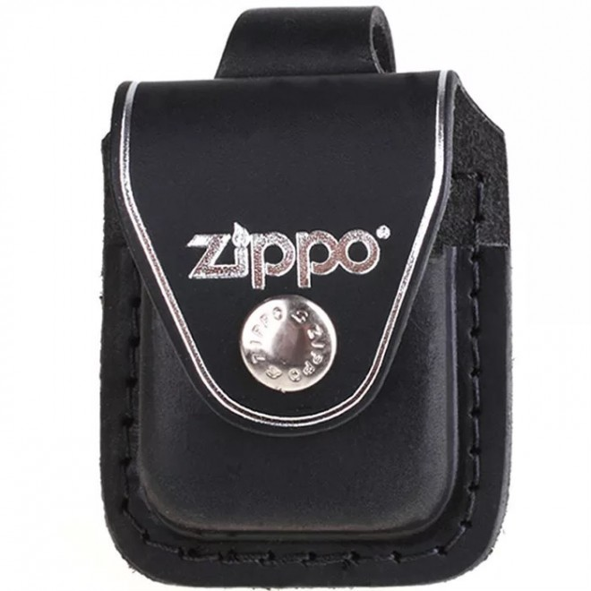 Genuine Leather Zippo Lighter Pouch