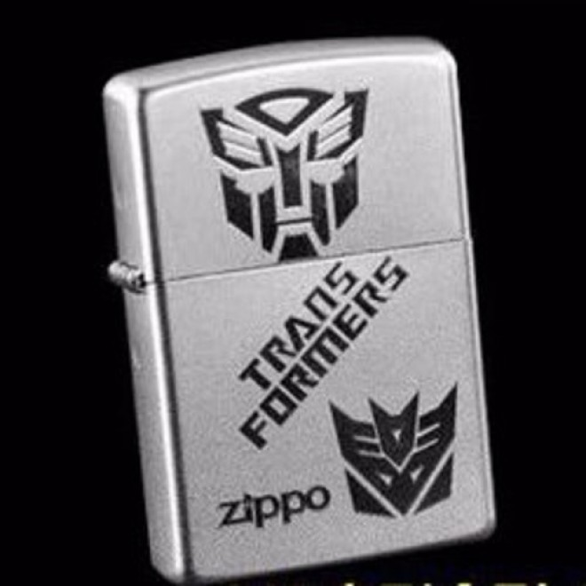 Transformer Chrome 205 Optimus Prime & Megatron Logo Zippo Lighter