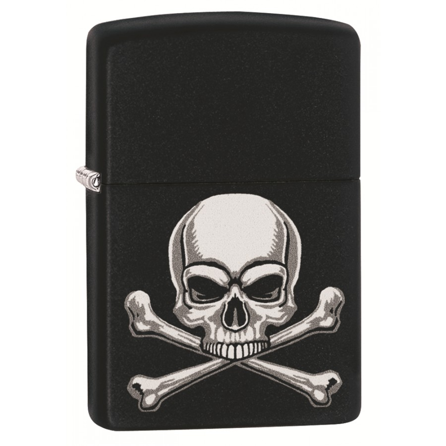 Black Matte Skull Crossbones Design 29917 Zippo Lighter