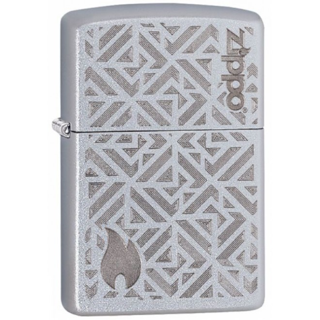 205 Satin Chrome Auto Engrave 29915 Zippo Lighter